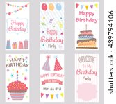 happy birthday invitation card... | Shutterstock .eps vector #439794106