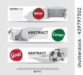 abstract soccer  football  ... | Shutterstock .eps vector #439797502