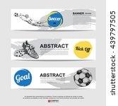 abstract soccer  football  ... | Shutterstock .eps vector #439797505