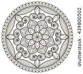 flower mandalas. vintage... | Shutterstock . vector #439800502
