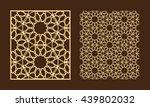 diy laser cutting set. woodcut... | Shutterstock .eps vector #439802032