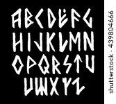 modern vector runic style hand... | Shutterstock .eps vector #439804666