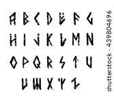 modern vector runic style hand... | Shutterstock .eps vector #439804696
