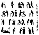 set of help icons disability... | Shutterstock .eps vector #439811305