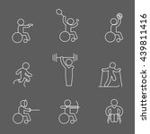 set of paralympic game ... | Shutterstock .eps vector #439811416