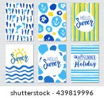 vector vintage journal cards... | Shutterstock .eps vector #439819996