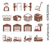 pack  package  packaging icon... | Shutterstock .eps vector #439820446