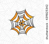 colorful spider web art theme... | Shutterstock .eps vector #439825342