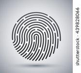vector fingerprint icon.... | Shutterstock .eps vector #439828066