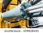 hydraulics tractor yellow.... | Shutterstock . vector #439828435