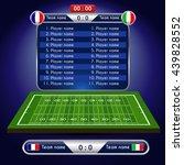 american football field. player ... | Shutterstock .eps vector #439828552