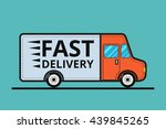 concept of the delivery service.... | Shutterstock .eps vector #439845265
