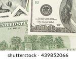 hundred dollar bills detail...   Shutterstock . vector #439852066