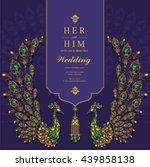 wedding invitation or card with ... | Shutterstock .eps vector #439858138