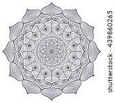 flower mandalas. vintage... | Shutterstock . vector #439860265