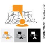 concept vector graphic   leader ... | Shutterstock .eps vector #439862212