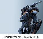 3d rendering of the mech | Shutterstock . vector #439863418