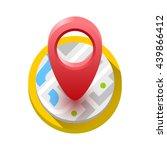 map icon. vector illustration | Shutterstock .eps vector #439866412
