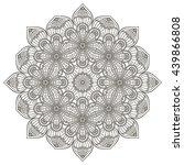 flower mandalas. vintage... | Shutterstock . vector #439866808