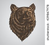 bear head hand draw | Shutterstock .eps vector #439867978