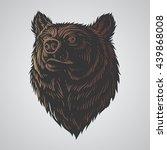 bear head hand draw | Shutterstock .eps vector #439868008