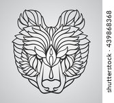 abstract bear head | Shutterstock .eps vector #439868368