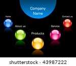 vector web navigation template | Shutterstock .eps vector #43987222