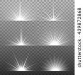 white glowing light burst... | Shutterstock .eps vector #439872868