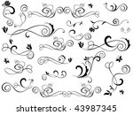 set of design elements | Shutterstock .eps vector #43987345