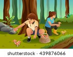 a vector illustration of kids... | Shutterstock .eps vector #439876066