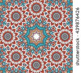 flower mandalas. vintage... | Shutterstock . vector #439876426