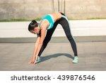 beautiful fit young woman urban ... | Shutterstock . vector #439876546