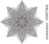 flower mandalas. vintage... | Shutterstock . vector #439877842