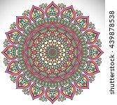 flower mandalas. vintage... | Shutterstock . vector #439878538