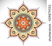 flower mandalas. vintage... | Shutterstock . vector #439879552