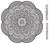 flower mandalas. vintage... | Shutterstock . vector #439880452
