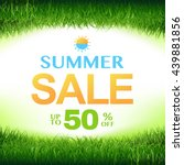 discount poster with green... | Shutterstock .eps vector #439881856
