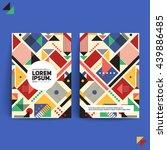 futuristic cover design. front... | Shutterstock .eps vector #439886485