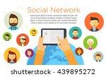 online chat social network... | Shutterstock .eps vector #439895272