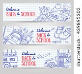 back to school horizontal... | Shutterstock .eps vector #439895302