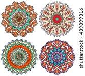 flower mandalas. vintage... | Shutterstock . vector #439899316