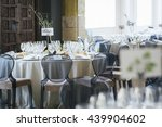 table setting at a luxury... | Shutterstock . vector #439904602