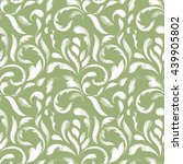 green seamless pattern of... | Shutterstock .eps vector #439905802
