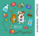 funny set of dog and cat life... | Shutterstock .eps vector #439906102
