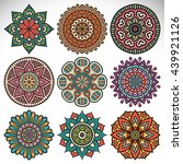 flower mandalas. vintage...   Shutterstock . vector #439921126