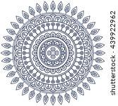flower mandalas. vintage... | Shutterstock . vector #439922962