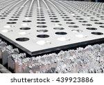 futuristic stainless steel...   Shutterstock . vector #439923886
