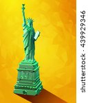 low poly 3d liberty statue... | Shutterstock .eps vector #439929346