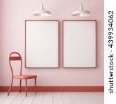 3d. mockup hipster interior...   Shutterstock . vector #439934062