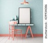 3d illustration interior.... | Shutterstock . vector #439934086